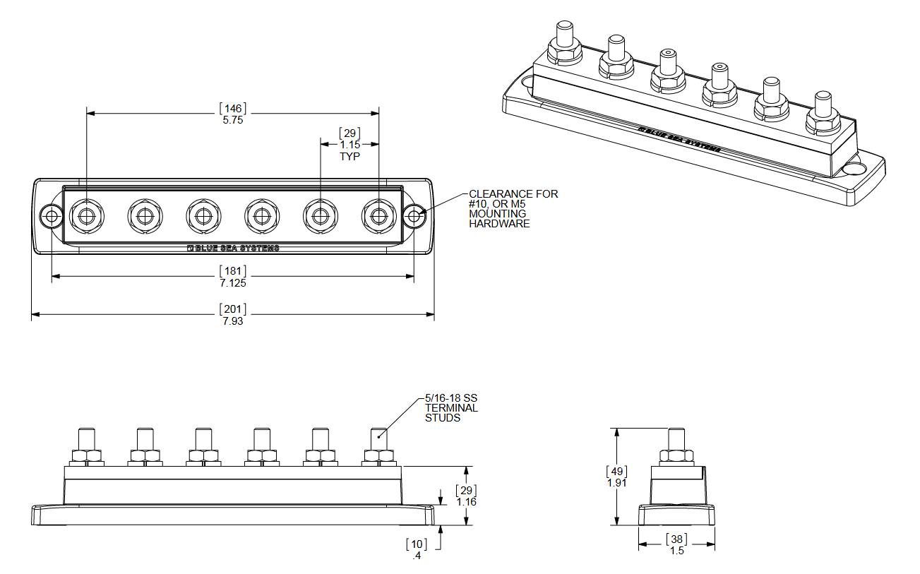 BS2126 dimensions