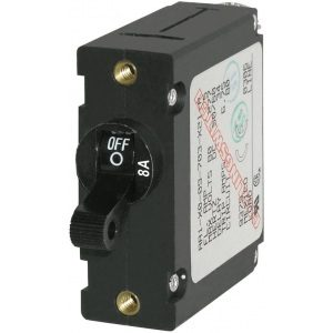 7347 - A-Series Black Toggle Circuit Breaker - Single Pole 8A